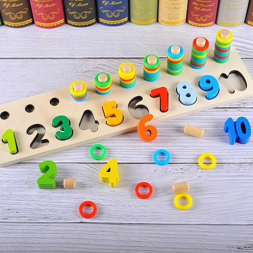 Bảng gỗ ghép số hoặc hình cho bé giá sỉ