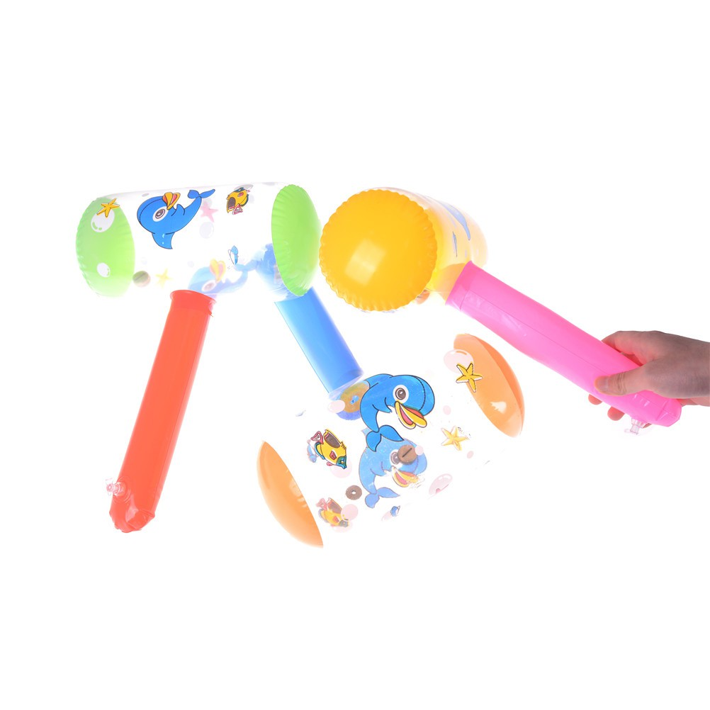 [BEW] Cartoon Inflatable Hammer Toy Kid Air Hammer With Bell Children Blow Up Toys [OL]