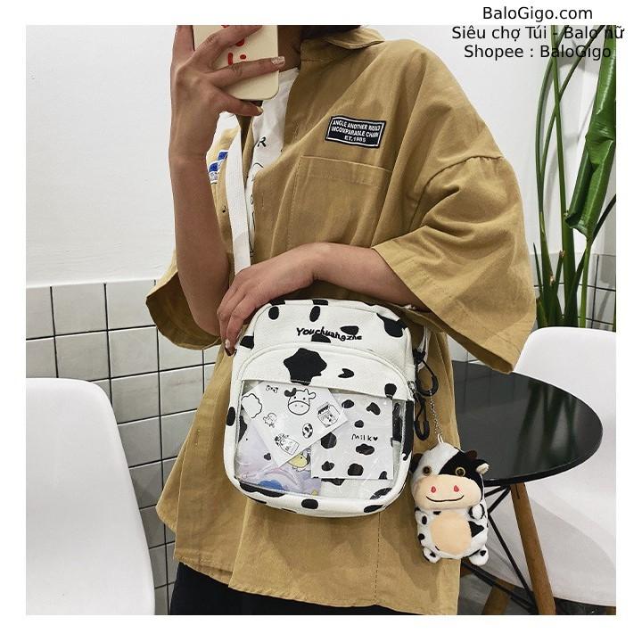 Túi đeo chéo bò sữa trong suốt siêu đẹp mới lạ cá tính mẫu Hot Trend T93 - BaloGigo