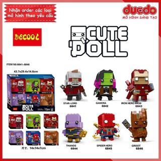 Brick Headz các siêu anh hùng Iron Man, Thanos - Đồ chơi Lắp ghép Mini Minifigures DECOOL 6841-6846 BrickHeadz thumbnail
