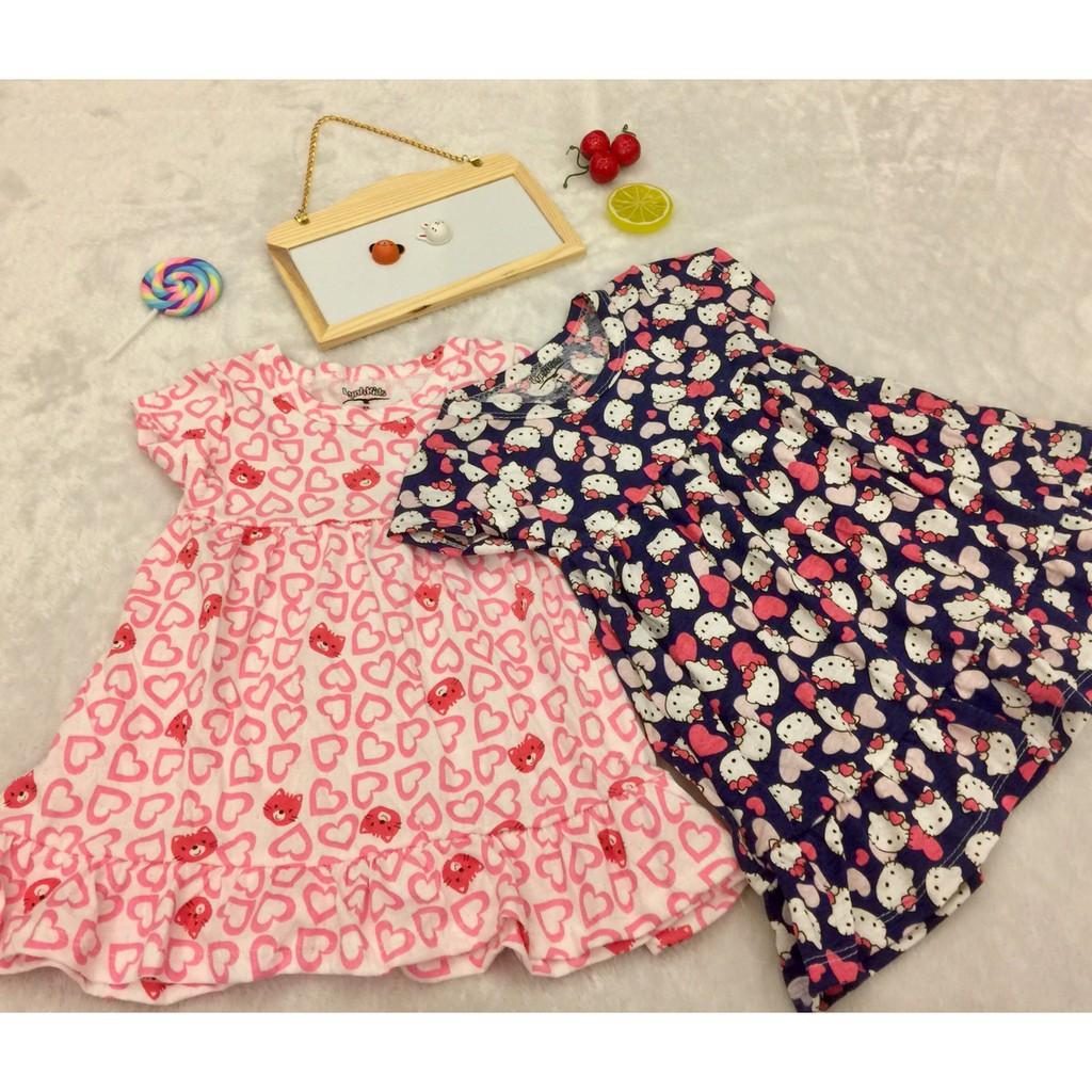 Váy cotton giấy cho bé gái