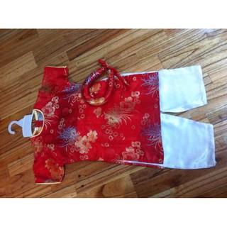 set áo dài cách tân kèm chân váy ( hoặc quần ) bé gái