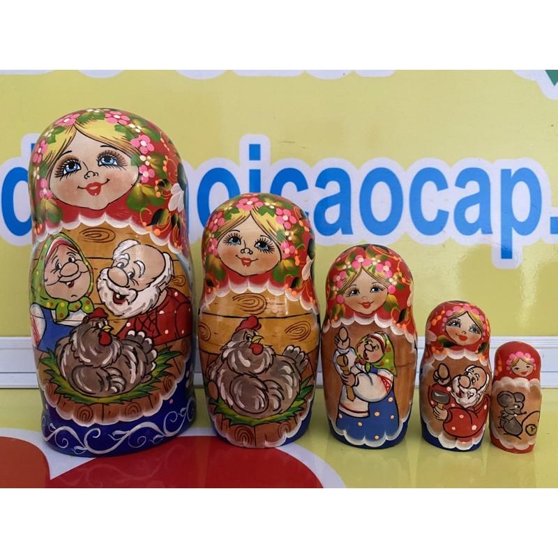 Búp bê Nga bộ 5 con lồng vào nhau siêu đẹp