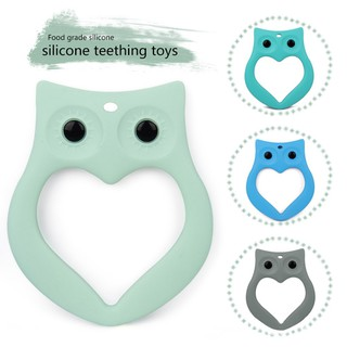 Creative Silicone Baby Bib Owl Teething Pacifier Teeth Toy