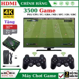 Máy chơi game cầm tay playstation 3500 trò Ps1 Ps2 Nitendo switch FC Compact FC , kết nối HDMI, tặng thẻ nhớ 32GB thumbnail