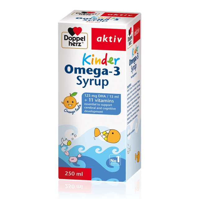 Siro sáng mắt, bổ sung DHA KINDER OMEGA-3 Syrup