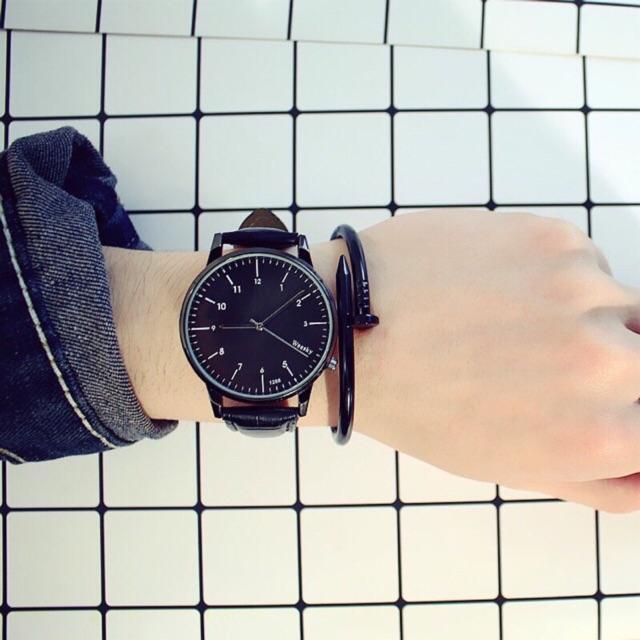 Đồng hồ cặp nam nữ Weesky L6040 dây da 3 màu hot