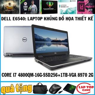 [Mã ELCL3MIL giảm 5% đơn 3TR] laptop đồ họa Dell E6540 Co i7 4810QM, VGA Radeon 8790M 2Gb, laptop cũ chơi game cơ bản