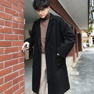 [Hàng Sẵn-Form Rộng] Áo khoác dạ nam, áo blazer dạ nam phong cách Hàn Quốc -AKD02