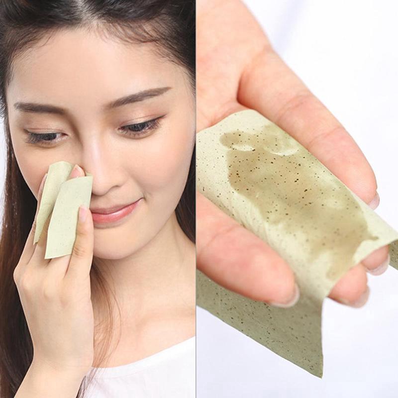 (Hàng Mới Về) Set 100 Tờ Giấy Thấm Dầu Làm Sạch Da Mặt