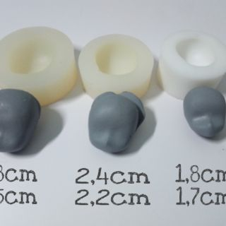 3 Khuôn silicon mặt chibi, anime loại nhỏ