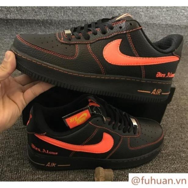 𝐒𝐀𝐋𝐄 𝐆𝐈À𝐘 𝐓Ế𝐓 🌺𝐆𝐢à𝐲🌺𝐓Ế𝐓🌺 fuhuan* Giày Nike Air Force 1 Low Vlone AF1 Black Orange 🌺
