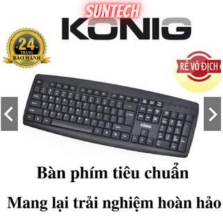 Phím có dây Konig Kb318, Hàng chính hãng bảo hàng 2 năm, Đảm bảo mua sẽ Hài Lòng, Bàn phím Konig thumbnail