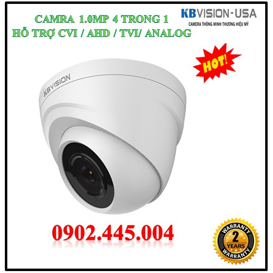 Camera Quan Sát Kbvision KX-1302C (1.3MP ) 4 TRONG 1 ( CVI/ TVI/ AHD/ ANALOG)