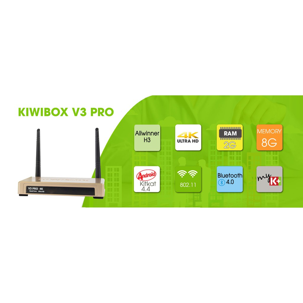 Đầu android TV box - Kiwi V3 pro