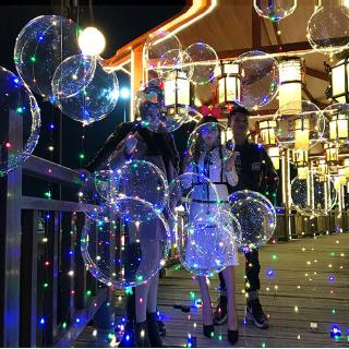 """18"""" LED String Light With Transparent Helium Balloons Christmas Wedding Party Decor - hình 2"""