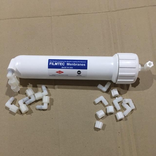 cốc vỏ màng ro số 4 máy lọc nước kèm cộng cút phi 6 và van một chiều
