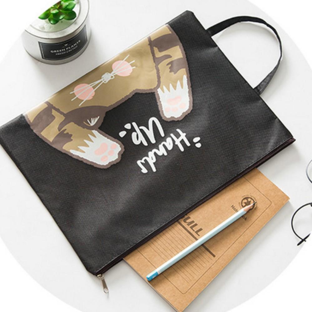 Túi vải không dệt đựng vừa giấy tờ A4 phong cách Vintage Hàn Quốc!