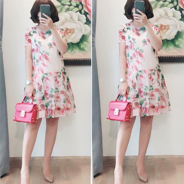 ?Váy Voan hoa nhí cao cấp 2 lớp lót lụa cực xinh