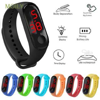 Đồng hồ đeo tay LED dây silicone màn hình cảm ứng