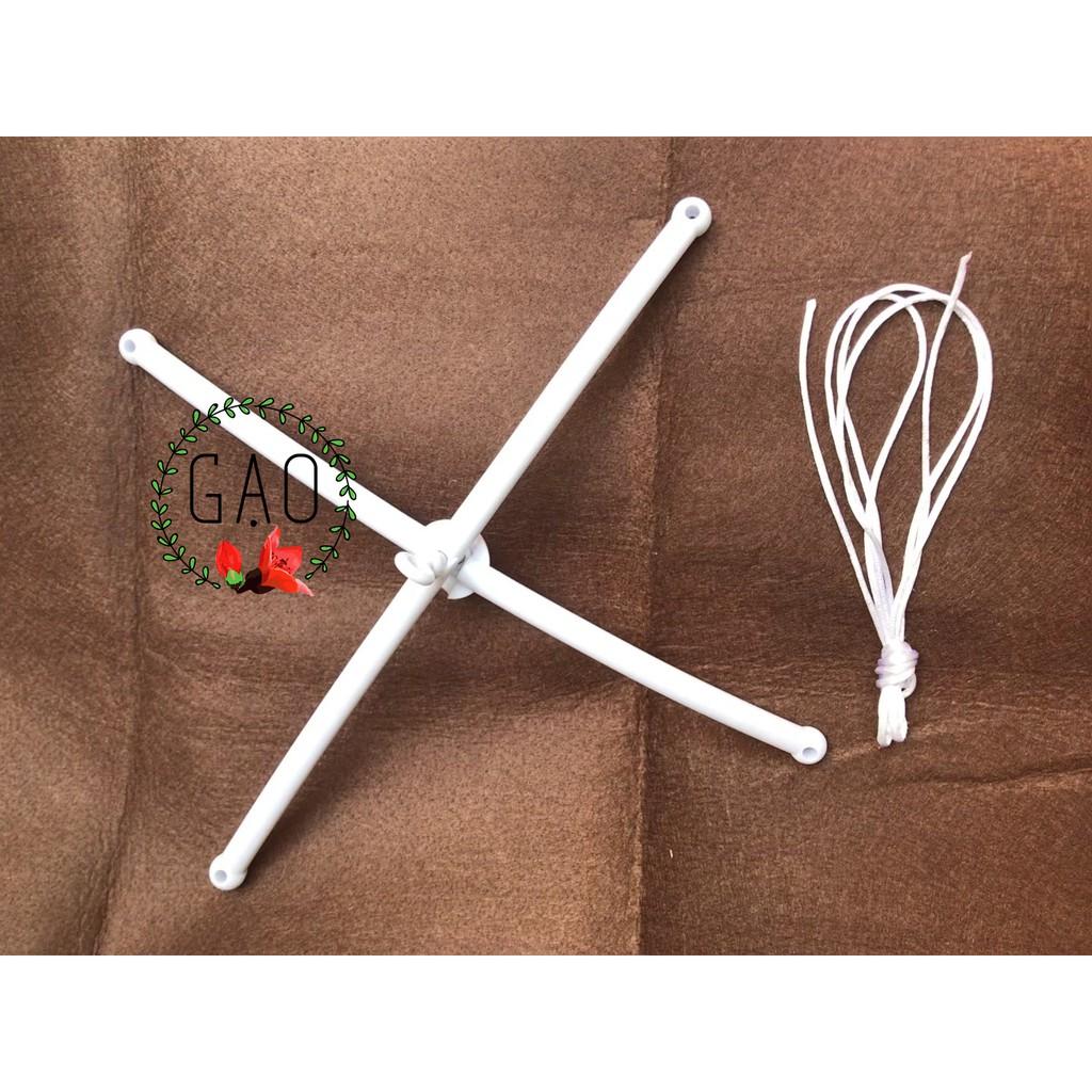 thanh X, chữ thập treo nôi cho bé + 2m dây