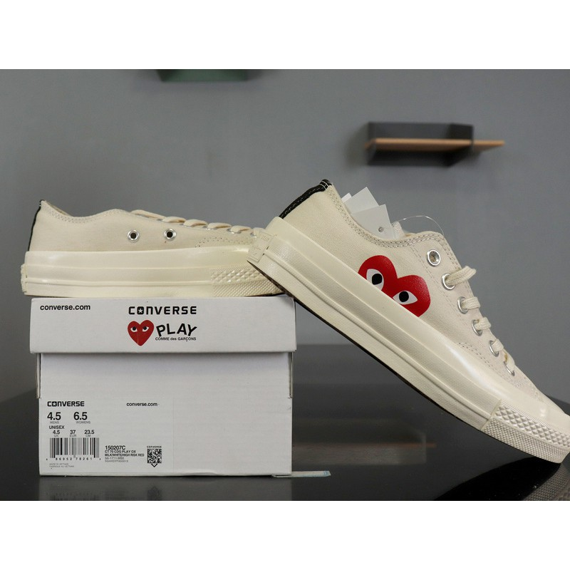 original CDG PLAY x Converse 1970S casual shoes 150206C