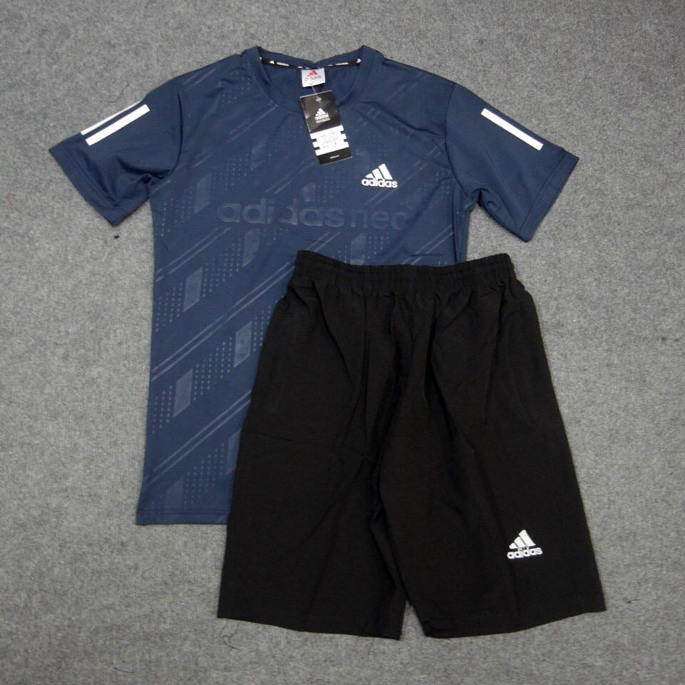 Bộ thể thao nam B31, Áo chất vải thun lạnh thể thao co giãn 4 chiều phom 47-80kg mặc đẹp