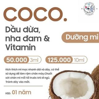 GELMI COCO ( kích dài mi và dày ) _ DẦU DỪA +NHA ĐAM 🎁 Tặng 1 – 2 viên serum tóc