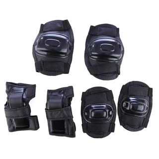 6Pcs Kids Sport Safety Protective Body Gear Set for Skating Bicycling Protection – Black