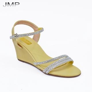 Giày Sandal Nữ Đế Xuồng Quai Đính Hạt Xinh Xắn Cao 7Cm - JMP - Đế Cao Su Chống Trượt - AH271