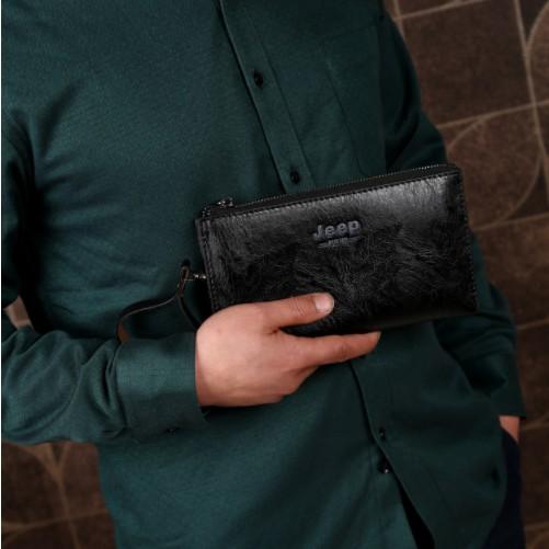 Ví cầm tay nam da pu phong cách Hàn Quốc - Bóp cầm tay nam PD10