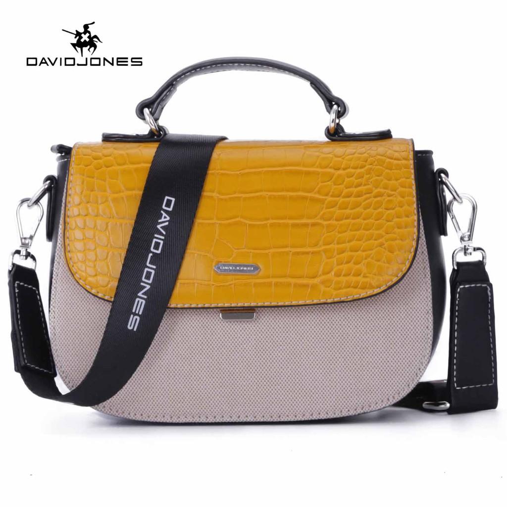 Túi đeo chéo DAVIDJONES phong cách Paris cho