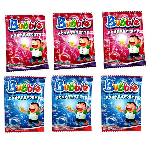 Gói 10ml dung dịch để pha với nước dùng cho đồ chơi thổi bong bóng