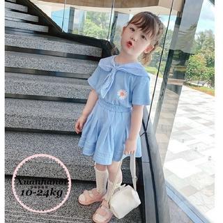 Set Váy thủy thủ bé gái Cotton Quảng Châu XHN517