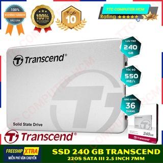 Ổ cứng SSD Transcend 240GB 2.5 SATA III (220S) TS240GSSD220S - Hàng Chính Hãng - Viết Sơn JSC Phân Phối thumbnail