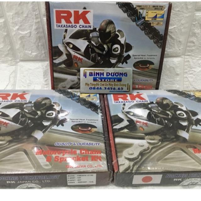 Nhông sên RK chính hãng Exciter 150