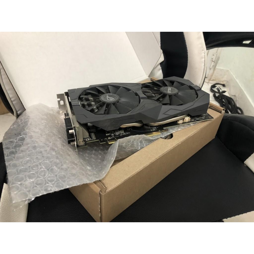Vga asus strix 570 4G rongstrix like new ko rỉ sét - Box Đầy Đủ bh 12/2020 (1 đổi 1 trong 1 tháng)
