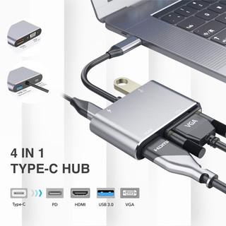 Cáp chuyển Type-C cho Macbook dùng trong trình chiếu USB-C Digital AV Multiport Adapter to VGA/ HDMI/ USB 3.0
