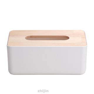 Tissue Box Wooden Plastic Simple Stylish Solid Multifunctional Decoration Home Holder Accessories Kitchen Office