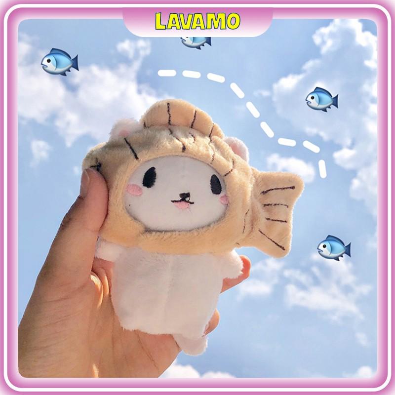 Móc khóa thú bông treo balo thời trang xinh xắn LAVAMO MK06