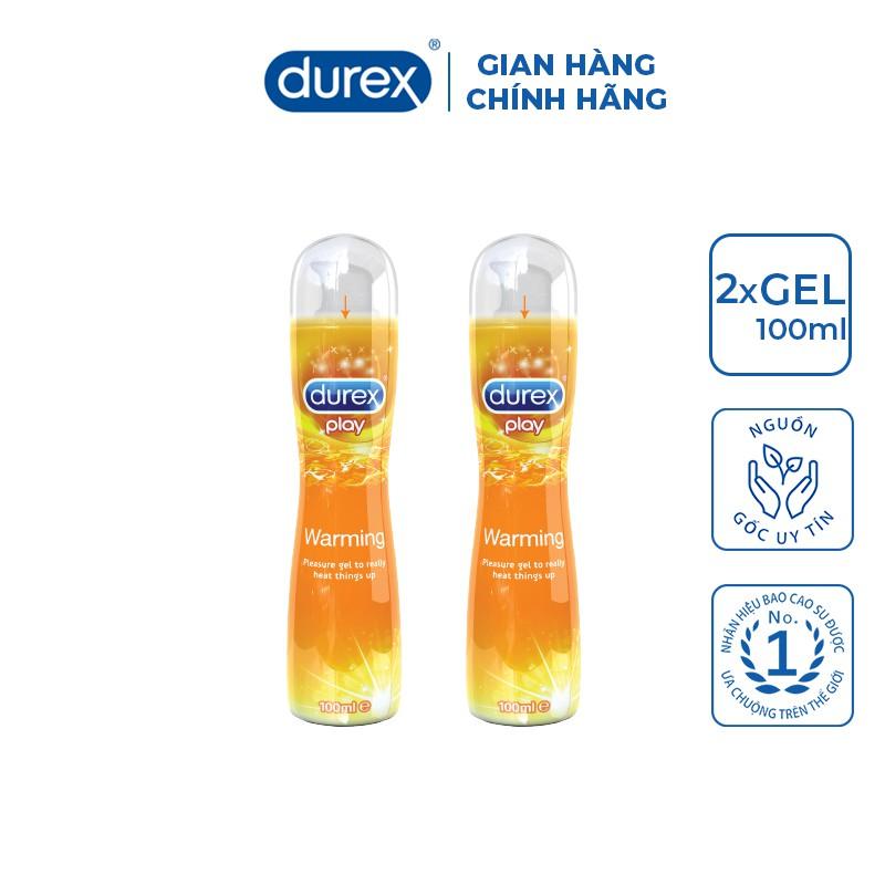 Bộ 2 gel bôi trơn Durex Play Warming (100ml/chai)