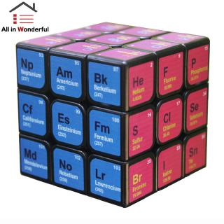 3x3x3 Magic Cube Periodic Table Printing Puzzles Toy for Kids