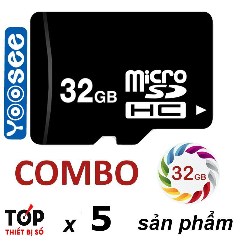 Sỉ combo 05 thẻ nhớ Micro SD 32G dùng cho camera
