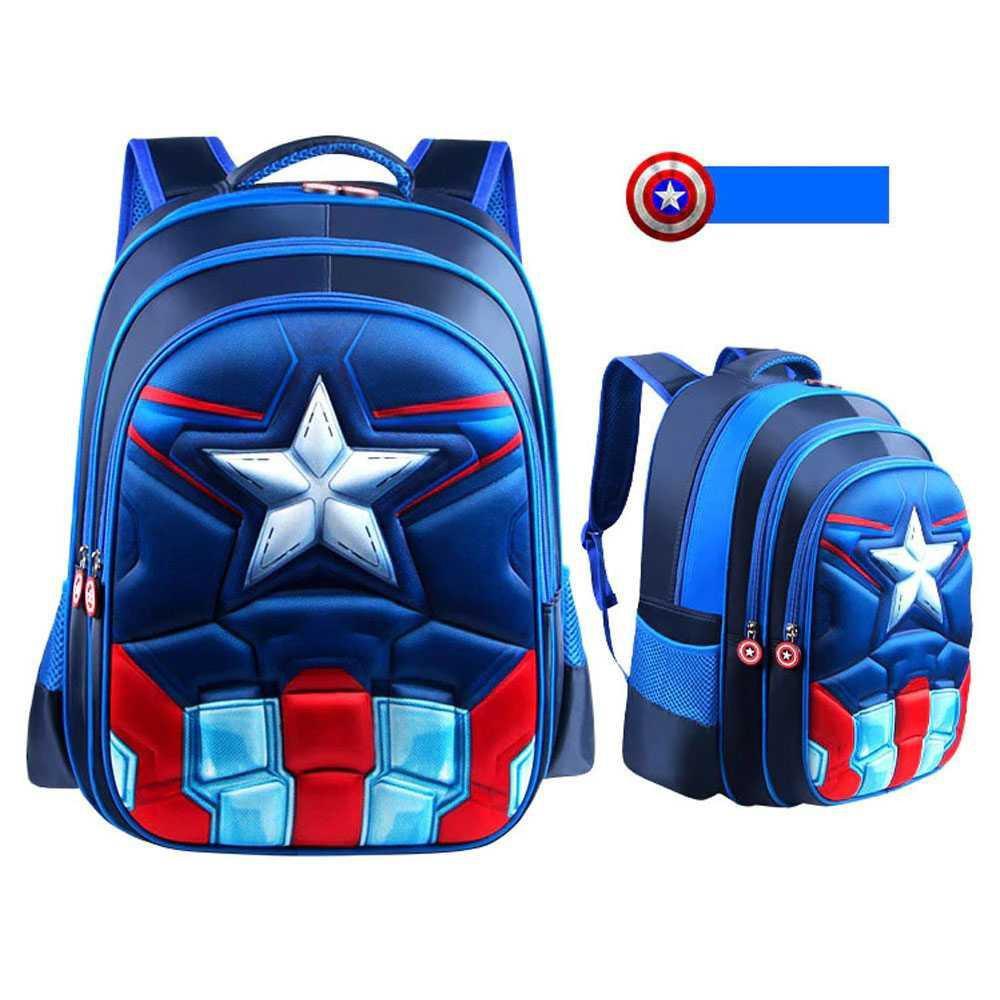Balo Đi Học Hình Captain America Avenger Cho Bé