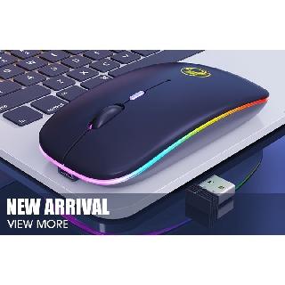 CHUỘT K DÂY Bluetooh 5.1 wireless 2.4Ghz IMICE E-1300 Pin Sạc (Có Công Tắc) - LED RGB Chính hãng thumbnail