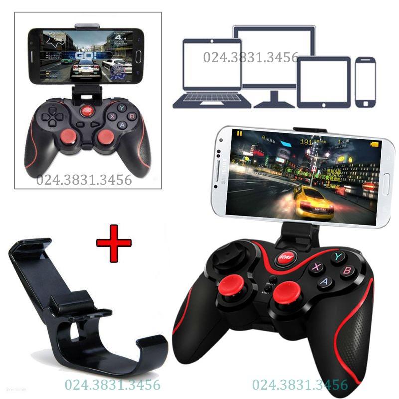 Tay cầm chơi game Bluetooth T3 TẶNG giá đỡ điện thoại