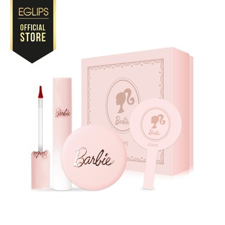 Combo Barbie Girl - 1 Son Kem Lì 4.3g+ 1 Phấn Phủ 9g + 1 gương 5g+ Hộp Barbie 7g - Eglips Official Store