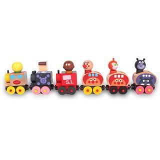 Wooden Bread Superman Magnetic Locomotive Toy Set Thomas