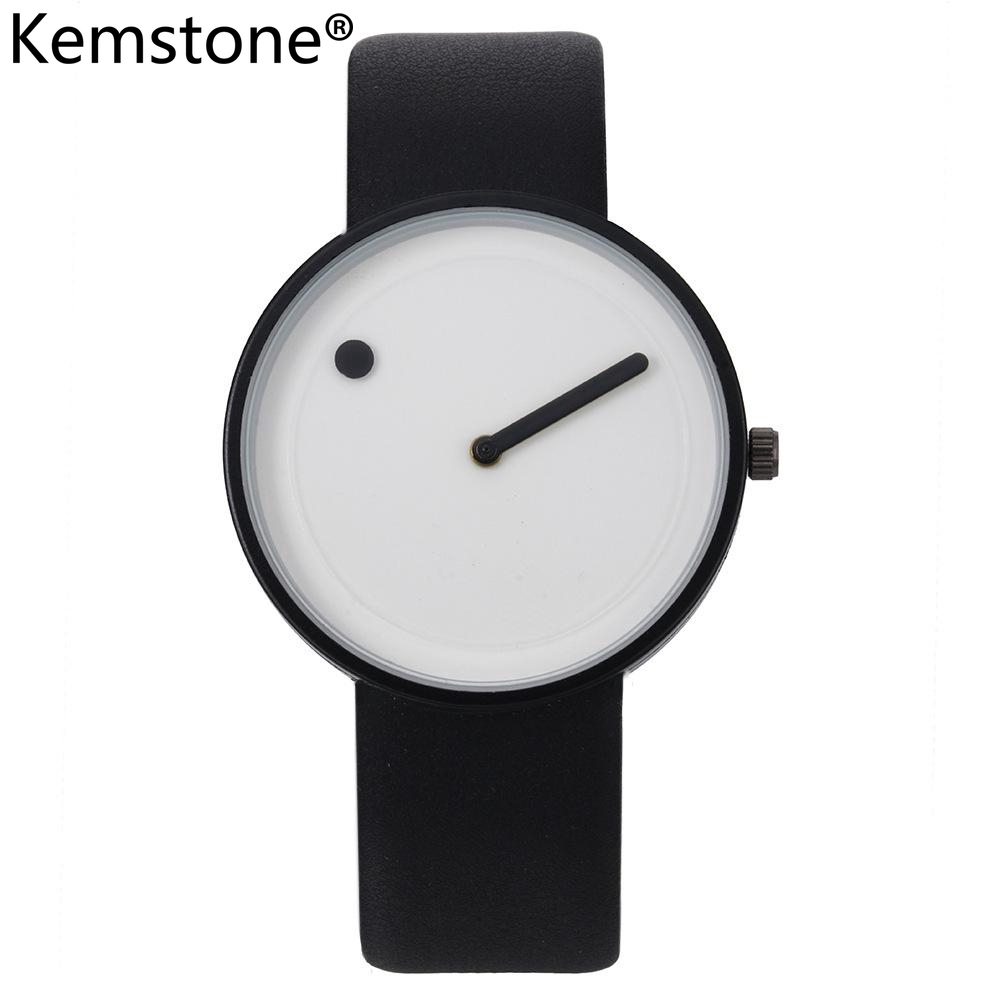 Kemstone Simple Alloy Stainless Steel Watch Women Men Jewelry Gift