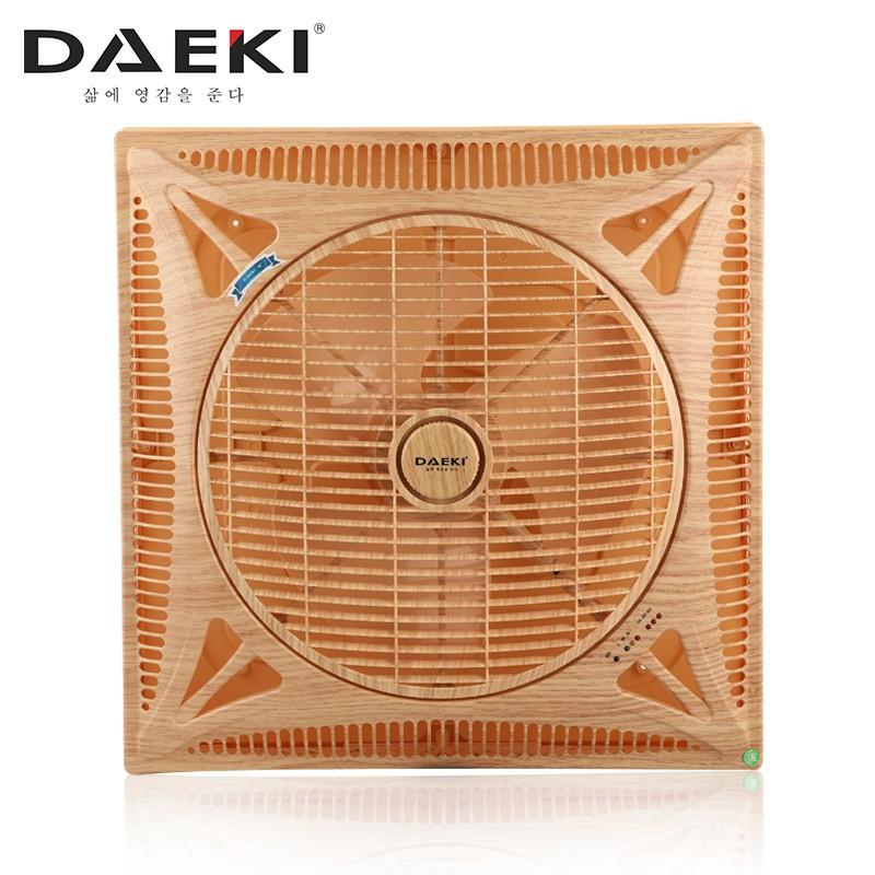 Quạt trần cao cấp Daeki - Model DK 301VG01 (Màu vân gỗ 01) - Khiển xa - Đèn Led 3 kiểu ánh sáng.